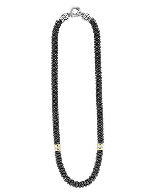 Lagos | Black Caviar 2-station Necklace | Lyst