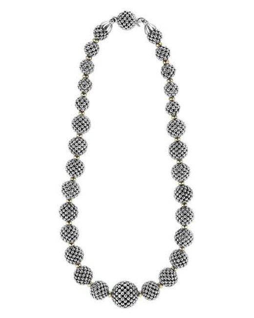 Lagos | Metallic 'caviar Forever' Lattice Ball Necklace | Lyst