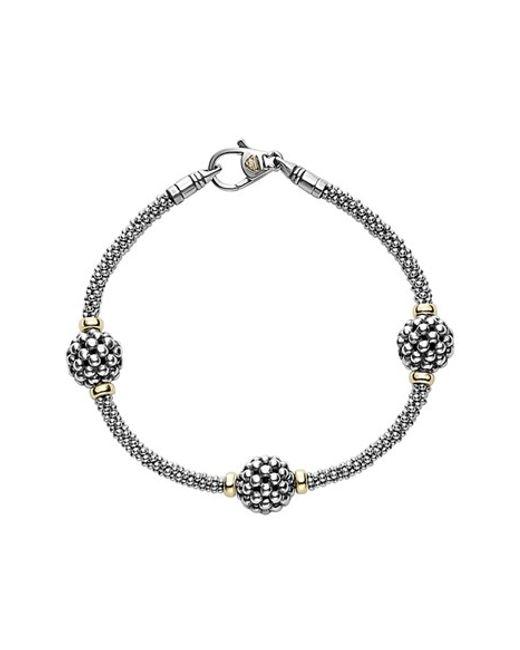 Lagos | Metallic 'caviar Forever' Ball Station Bracelet | Lyst