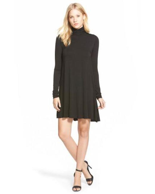 Lamade | Black 'penny' Turtleneck Trapeze Dress | Lyst