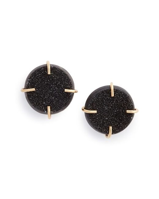Melissa Joy Manning | Black Drusy Stone Earrings | Lyst