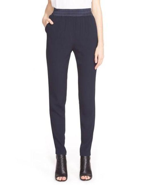 Rebecca Taylor | Blue 'emma' Side Stripe Pants | Lyst