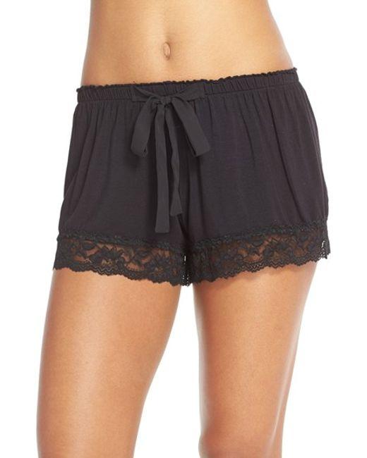 Flora Nikrooz | Black Snuggle Lounge Shorts | Lyst