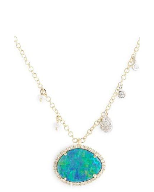 Meira T | Metallic Stone Pendant Necklace | Lyst