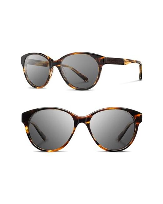 Shwood | Black 'madison' 54mm Round Sunglasses | Lyst