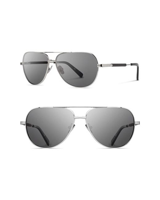Shwood | Metallic 'redmond' 56mm Polarized Aviator Sunglasses | Lyst
