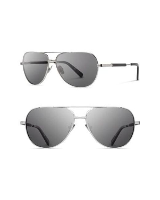 Shwood | Metallic 'redmond' 53mm Titanium & Wood Aviator Sunglasses | Lyst