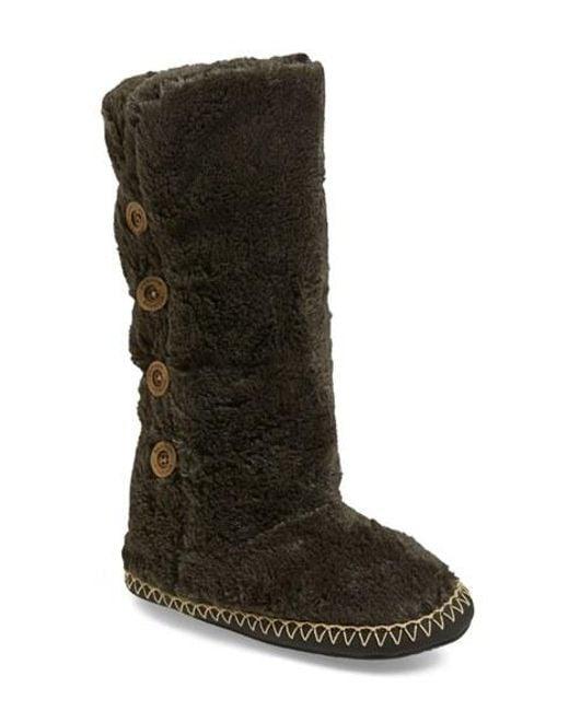 Bedroom Athletics | Gray Grace Tall Faux-Fur Slipper Boot | Lyst