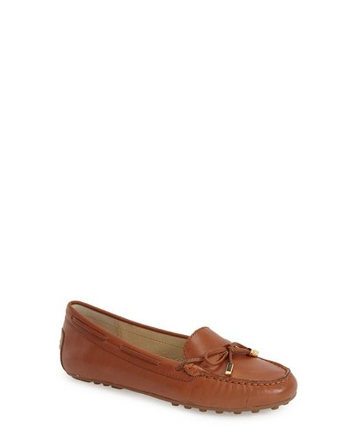 MICHAEL Michael Kors | Brown Daisy Leather Slip On Moccasins | Lyst