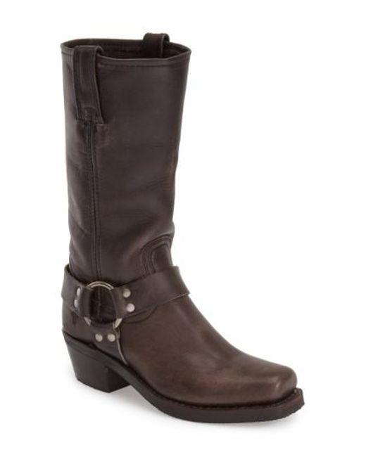 Frye | Gray 'Harness 12R' Boot | Lyst