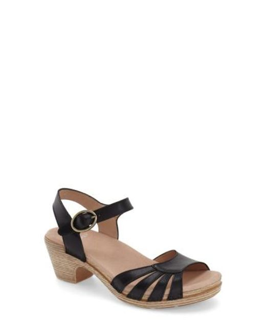 Dansko | Black Marlow Leather Sandals | Lyst