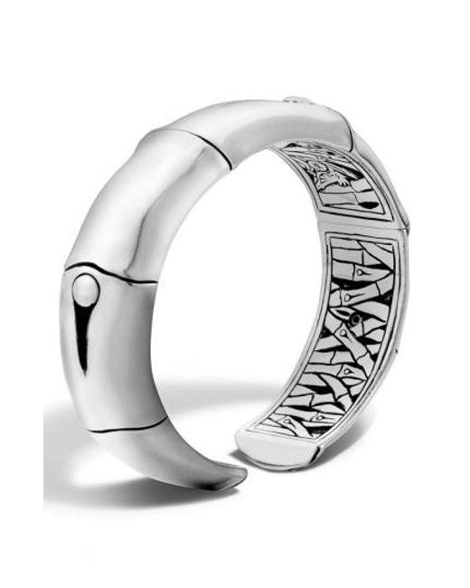 John Hardy   Metallic 'bamboo' Silver Wrist Cuff   Lyst