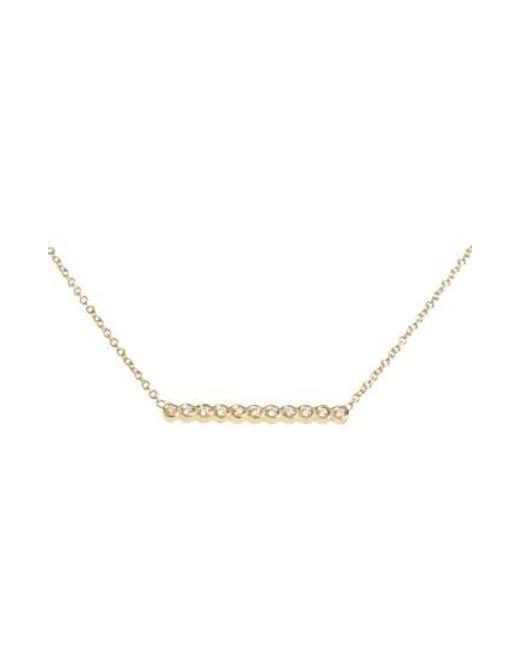 Zoe Chicco | Metallic Diamond Bar Pendant Necklace | Lyst