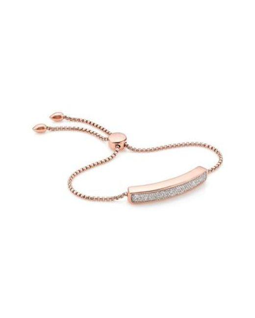 Monica Vinader | Pink 'baja' Stone Bracelet | Lyst