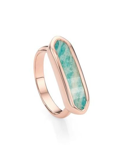 Monica Vinader | Green 'baja' Stone Ring | Lyst