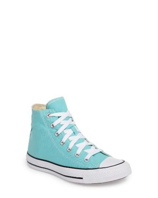 Converse | Blue Chuck Taylor All Star Seasonal Hi Sneaker | Lyst