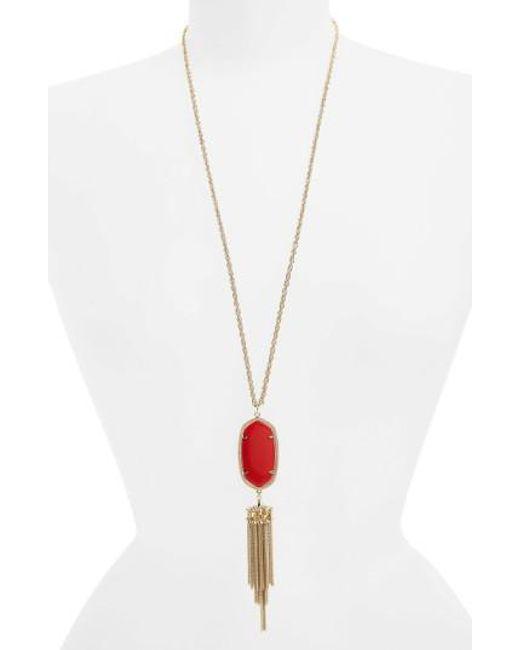 Kendra Scott   Red 'rayne' Tassel Pendant Necklace   Lyst