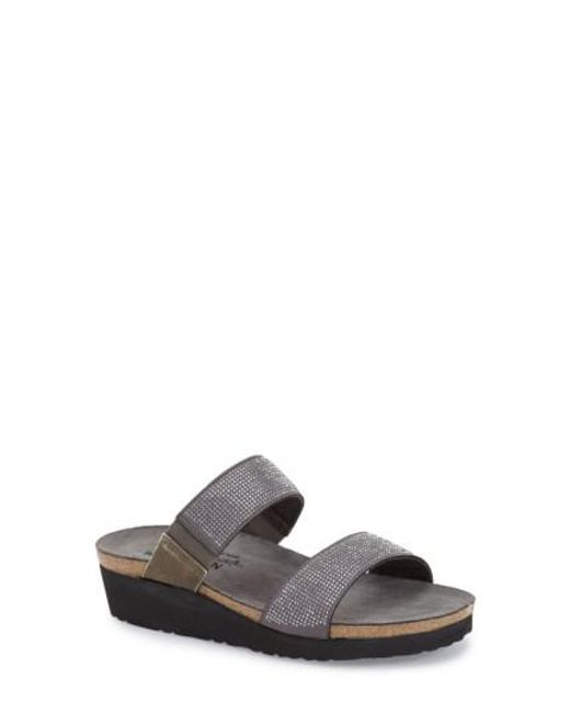 Naot | Gray Bianca Embellished Slide Sandals | Lyst