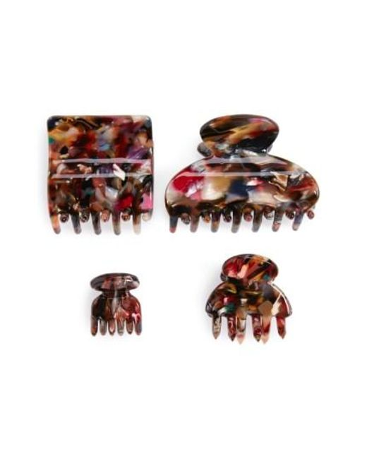 Tasha   Multicolor 'marble' Jaw Clips   Lyst