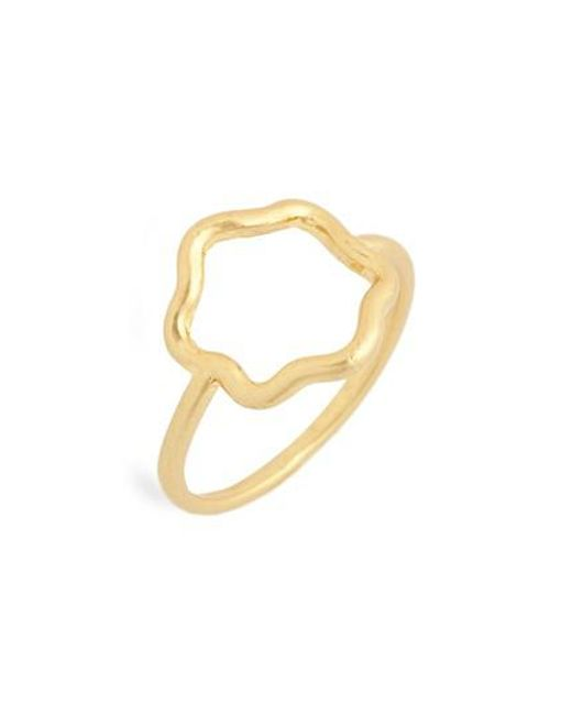 Madewell - Metallic Wobbly Circle Ring - Lyst