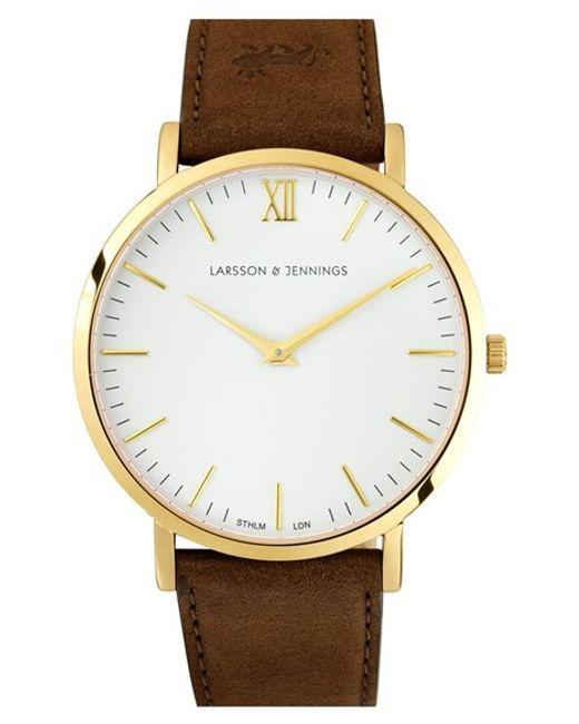 Larsson & Jennings | White 'lugano' Short Strap Leather Watch | Lyst