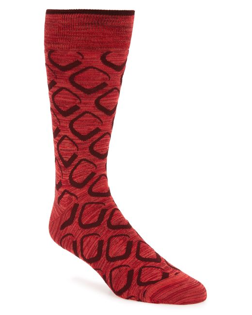 Bugatchi - Red Geometric Socks for Men - Lyst