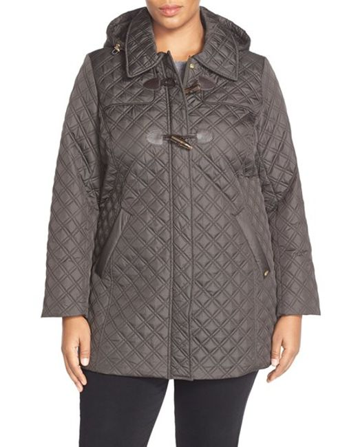 Ellen Tracy | Green Toggle Closure Quilted A-line Coat | Lyst