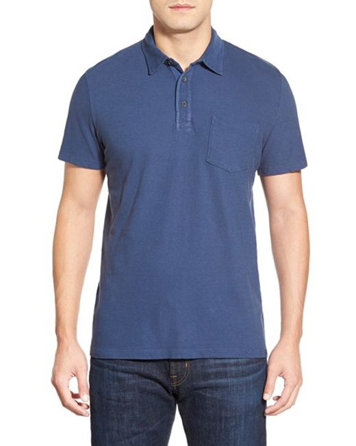 AG Jeans | Blue 'cliff' Pique Polo for Men | Lyst