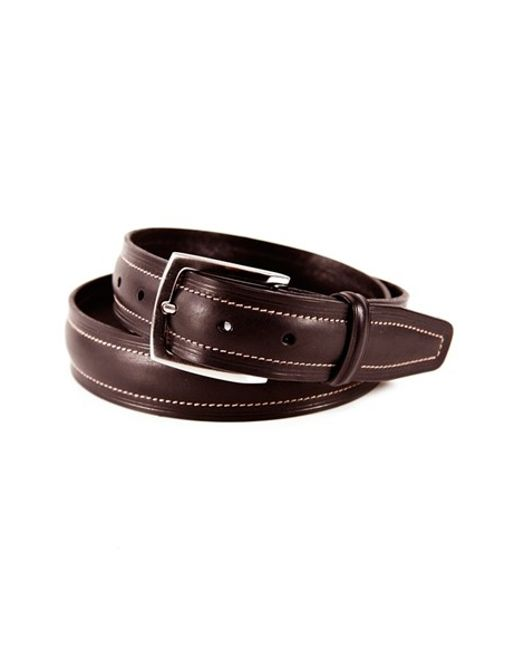 Tommy Bahama | Brown 'palm Springs' Leather Belt for Men | Lyst