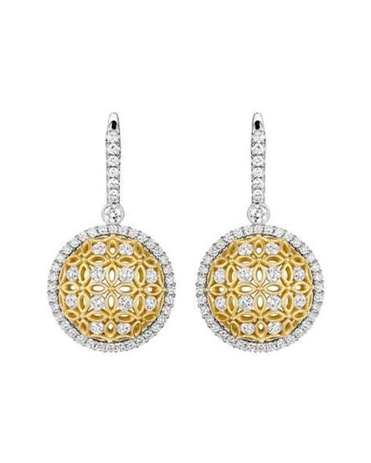 Jack Kelége | Metallic 'gatana' Diamond Drop Earrings | Lyst