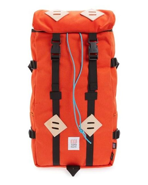 Topo Designs | Orange 'klettersack' Backpack | Lyst