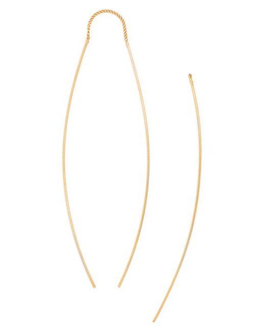 BaubleBar | Metallic Delicate Double Drop Earrings | Lyst