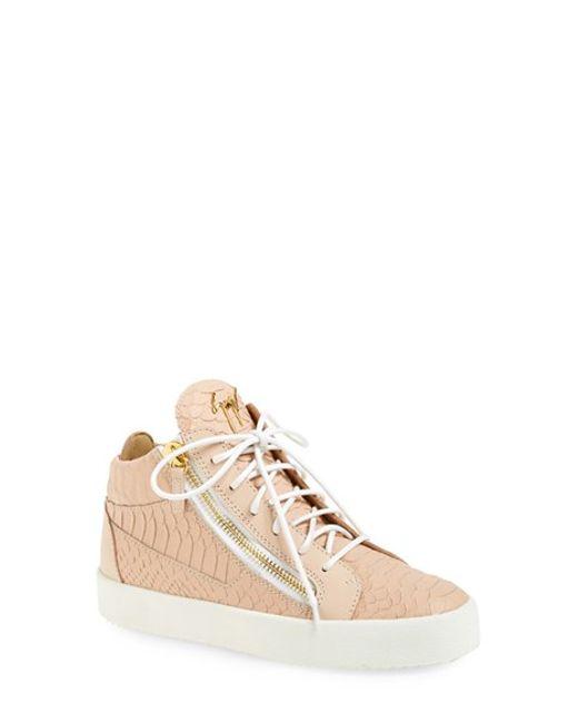 Giuseppe Zanotti | Pink High Top Sneaker | Lyst