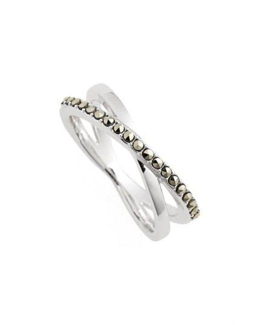Judith Jack | Metallic Crisscross Marcasite Ring | Lyst