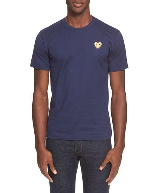 Comme des Garçons   Blue Play Crewneck T-shirt for Men   Lyst