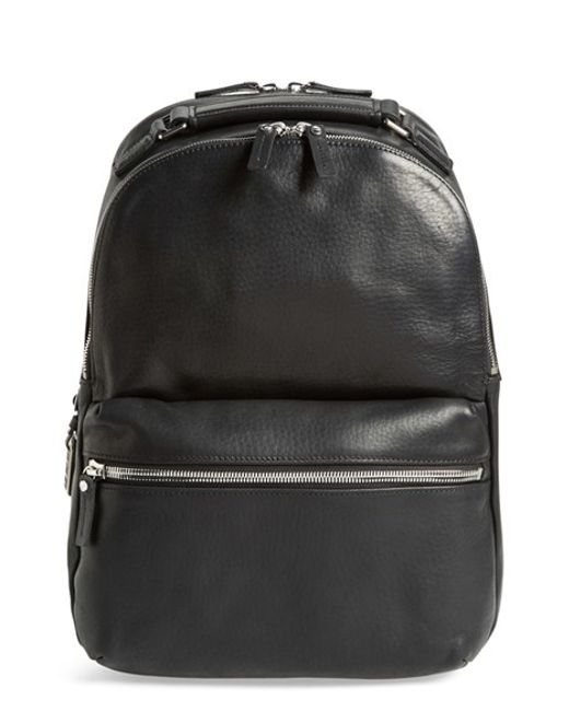 Shinola | Black 'runwell' Leather Laptop Backpack for Men | Lyst