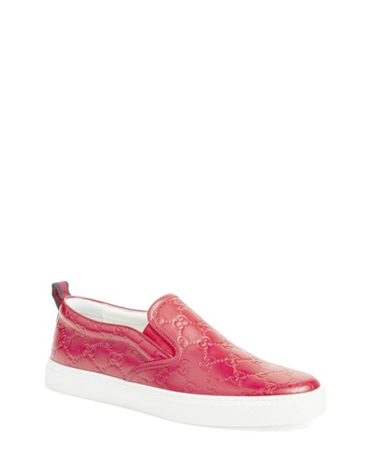 Lyst - Gucci Dublin Leather Skate Shoes in Pink for Men ... - photo #40