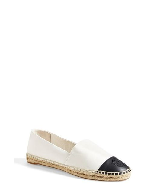 Tory Burch | White Colorblock Espadrille Flat | Lyst
