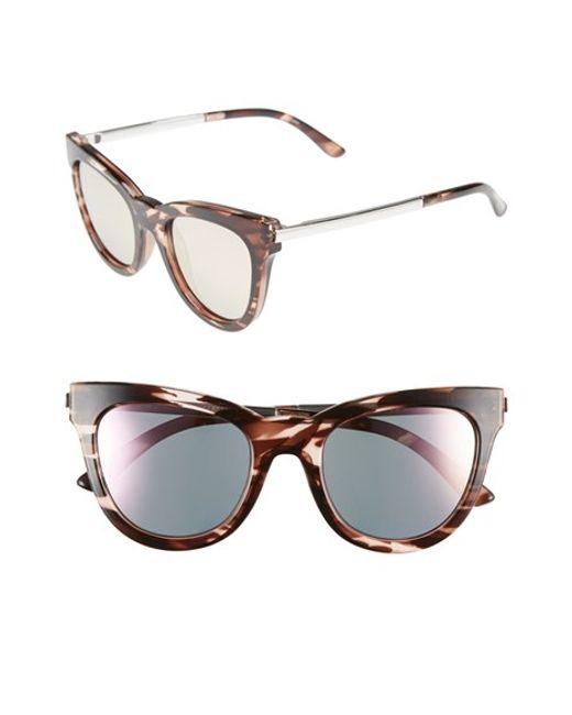 Le Specs   Pink 'le Debutante' 51mm Cat Eye Sunglasses   Lyst