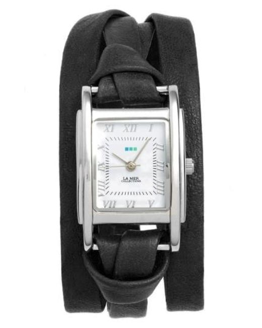 La Mer Collections | Metallic 'milwood' Leather Wrap Watch | Lyst