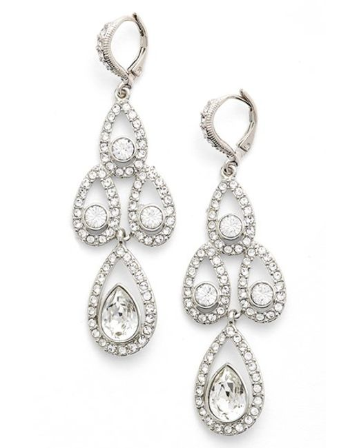 Givenchy | Metallic Crystal Chandelier Drop Earrings | Lyst