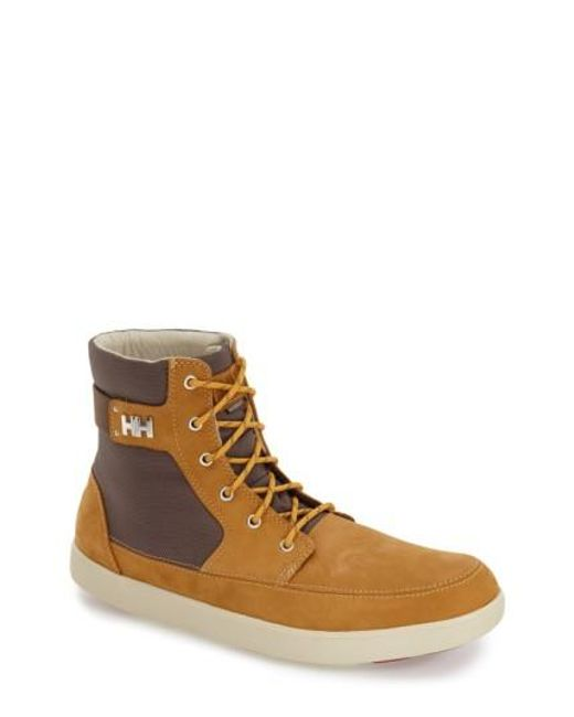 Helly Hansen | Brown 'stockholm' Waterproof High Top Sneaker for Men | Lyst