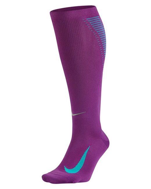 Nike 'elite' Knee High Socks in Purple (COSMIC PURPLE ...