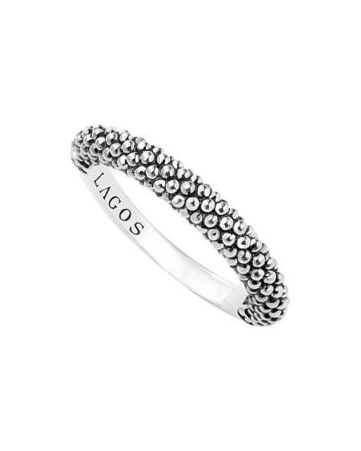 Lagos | Metallic Caviar Stacking Ring | Lyst