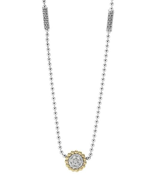 Lagos | Metallic 'caviar' Circle Pendant Necklace | Lyst