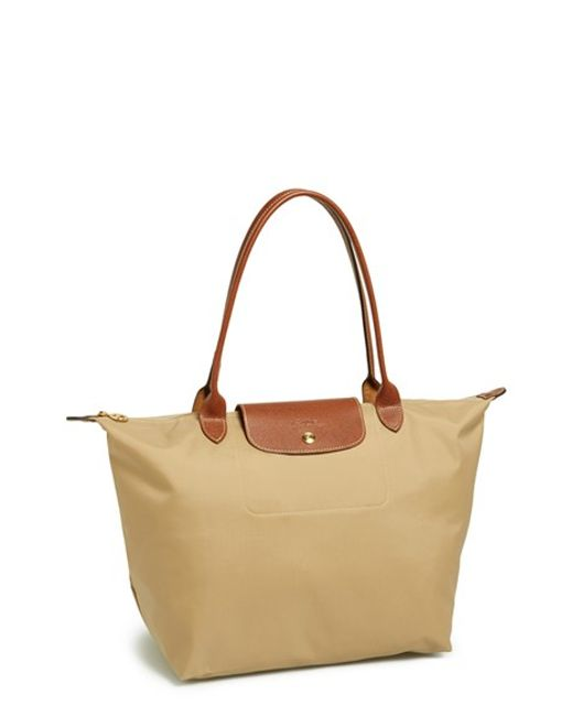 Longchamp | Brown 'large Le Pliage' Tote | Lyst