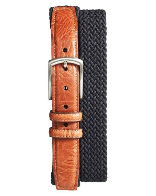 Torino Leather Company | Brown Braided Stretch Cotton Belt for Men | Lyst