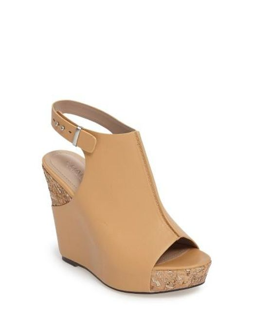 Charles by Charles David | Natural Ames Platform Wedge Sandal | Lyst