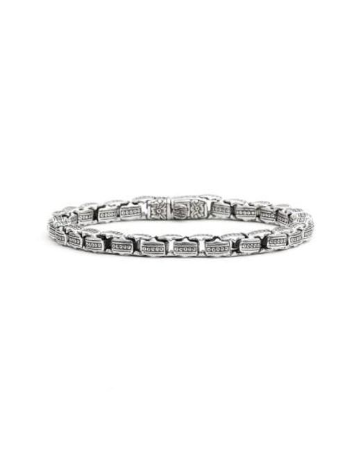 Konstantino | Metallic 'minos' Etched Dot Link Bracelet | Lyst