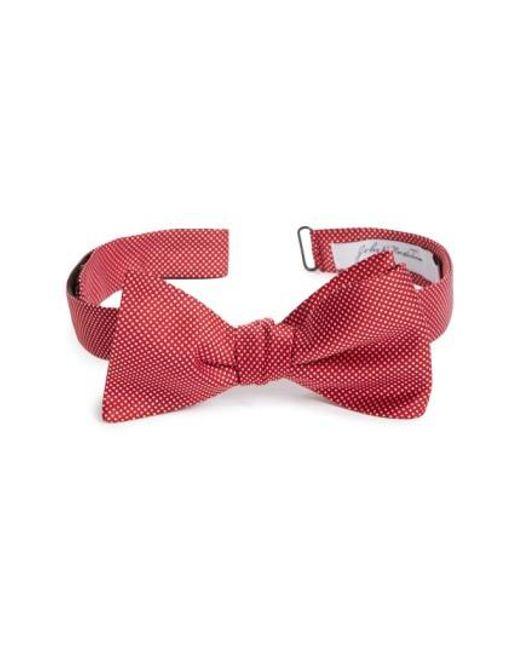 John W. Nordstrom | Red John W. Nordstrom Dot Silk Bow Tie for Men | Lyst